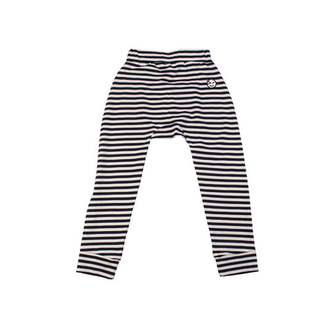 Stripe Relaxed Pant - Navy/Ecru