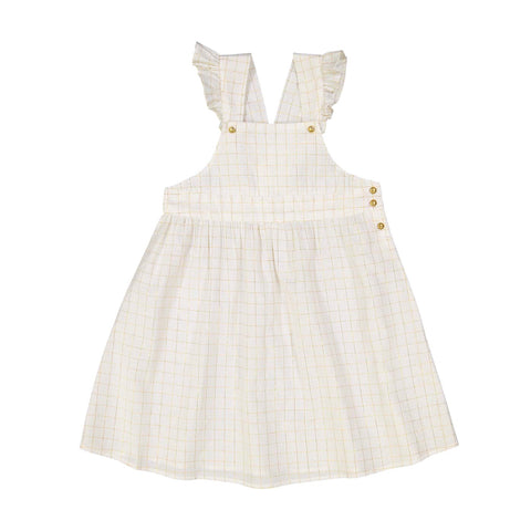 Dress Alexandra - Check Lurex/Off White