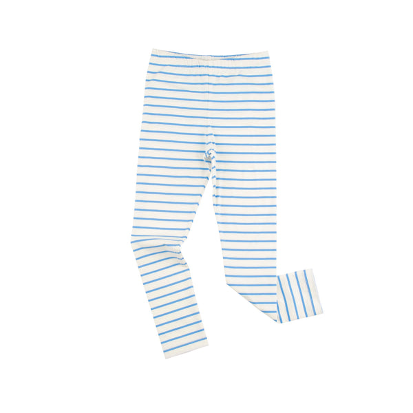 Small Stripes Pants - Off White/Cerulean Blue
