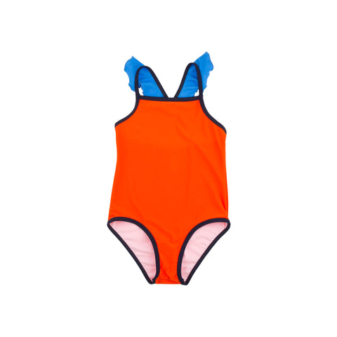 Swimsuit - Color Block Frills