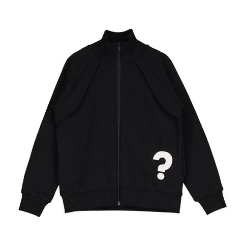 Funnel Neck Zip Jacket - Black