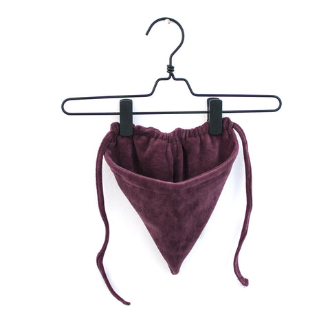 Burgundy Velour Bonnet