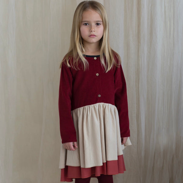 Burgundy Dress With Raglan Sleeve