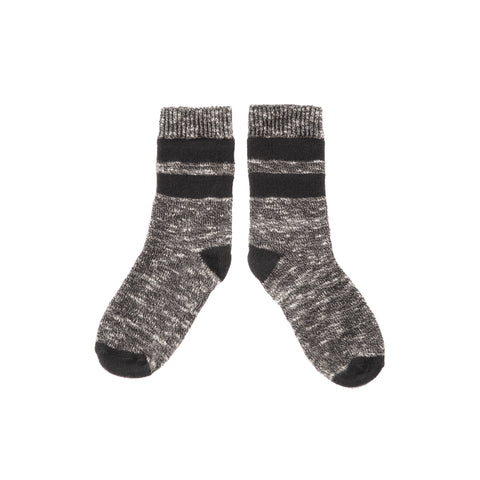 Country Socks with stripes - Dark Grey