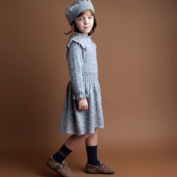 Knitted Dress - Grey