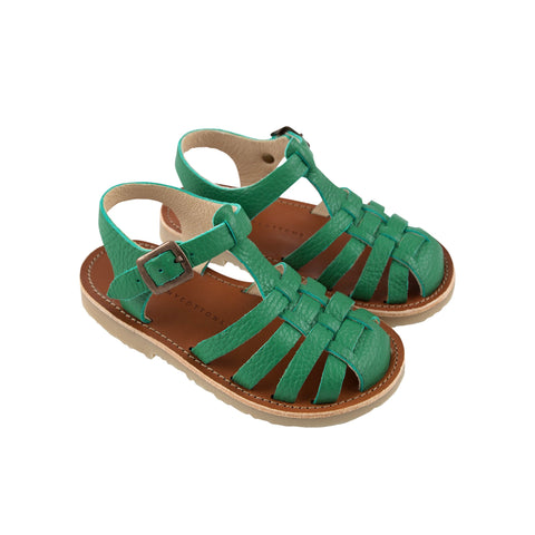 Braided Sandals - Deep Green