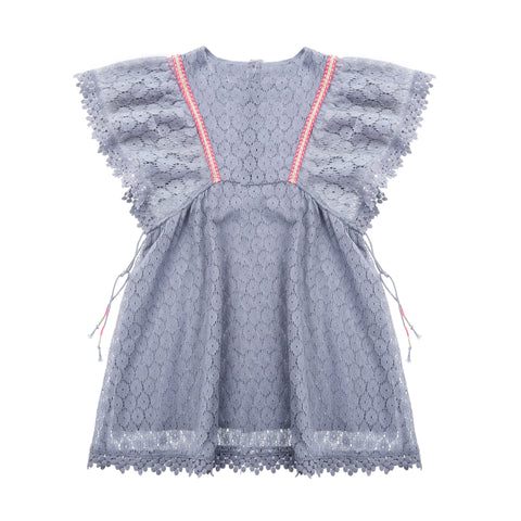 Dress Norah - Silver Cloud Flower Lace