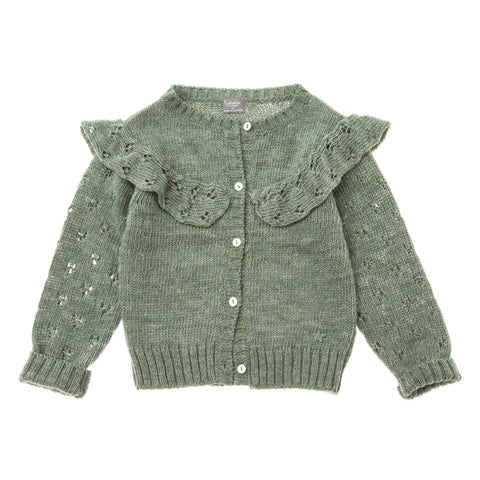 Knitted Cardigan - Kaky