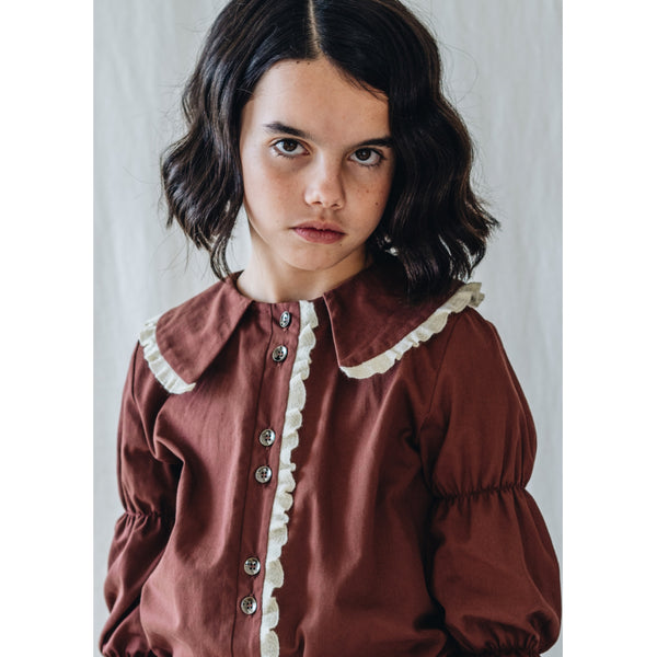 B02 Blouse - Porcelain Russet Trench