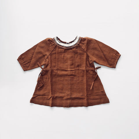 Victoria Baby Dress - Camel