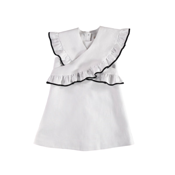 Eureka Dress - White/Black
