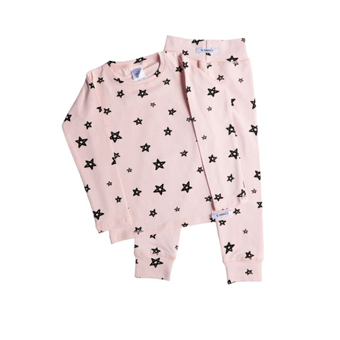 Star Long PJ Set - Rose