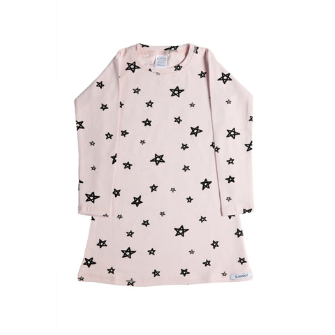Star Longsleeve Nightie - Rose