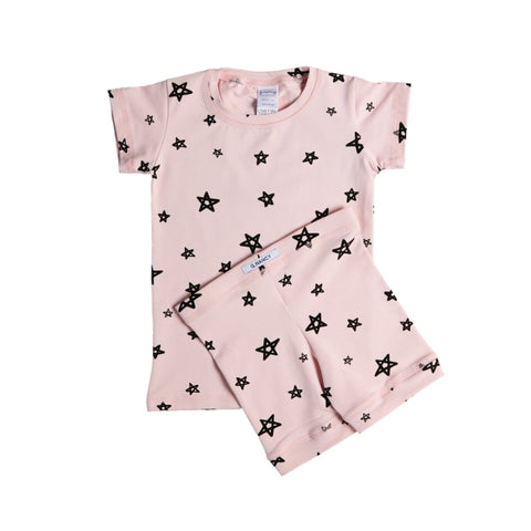 Star Shortie PJ Set - Rose