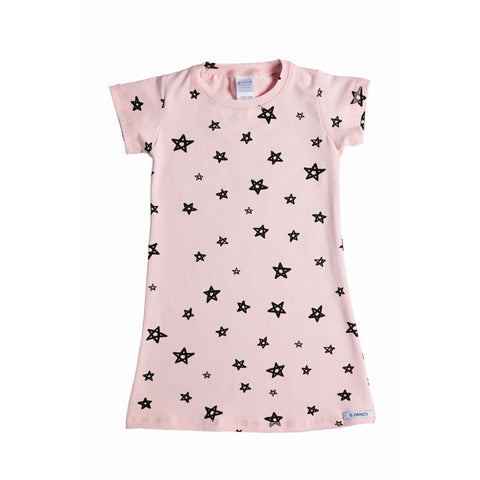 Star Shortsleeve Nightie - Rose