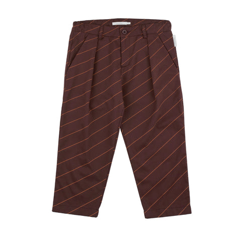 Pleated Pant - Diagonal Stripes