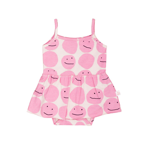 Tank Body With Skirt - Pinky Smiley