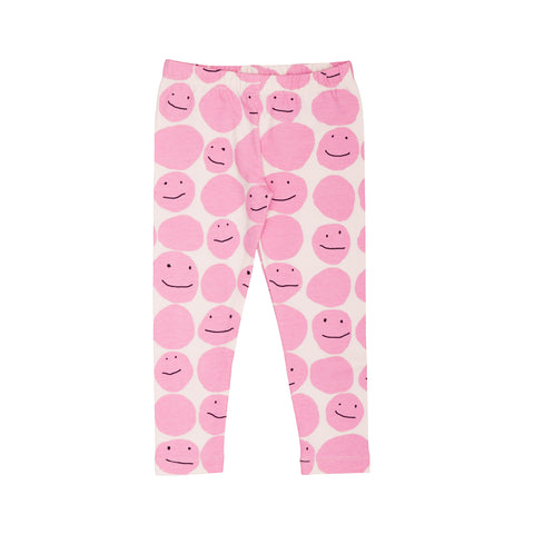 Kids Leggings - Pinky Smiley