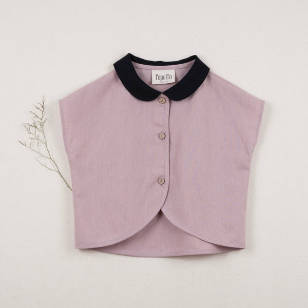 Dusty Pink Shirt with Collar