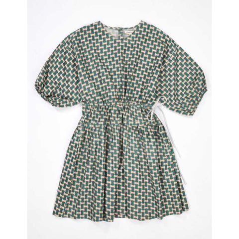 Cyclamen Dress - Emerald GEO Print