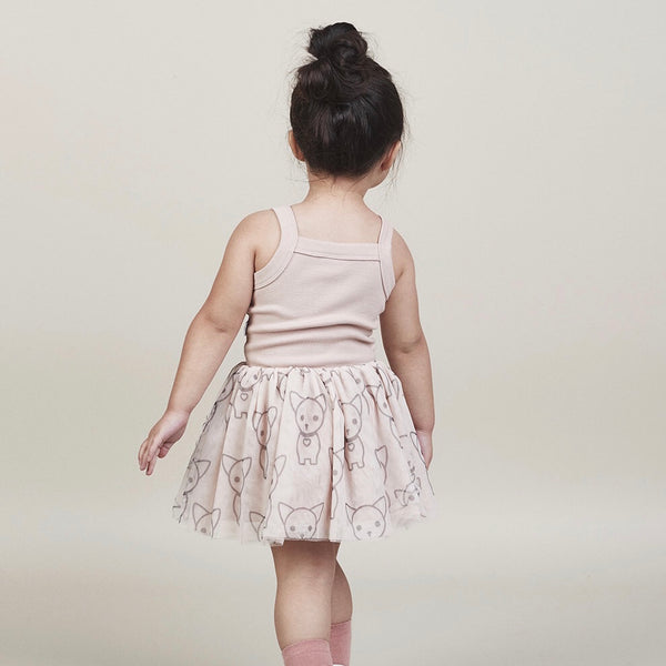 Chihuahua Summer Ballet Dress Onesie - Rose