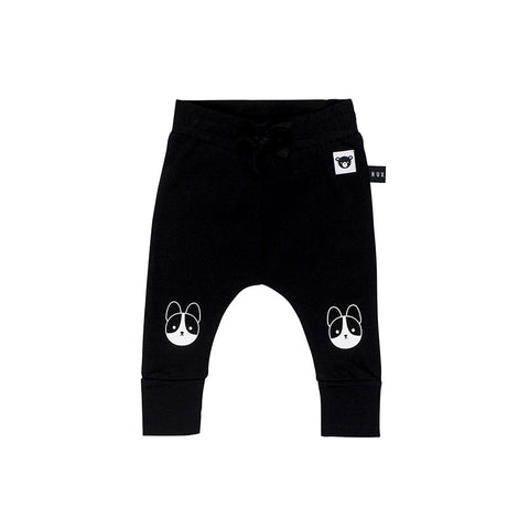 Frenchie Drop Crotch Pant - Black