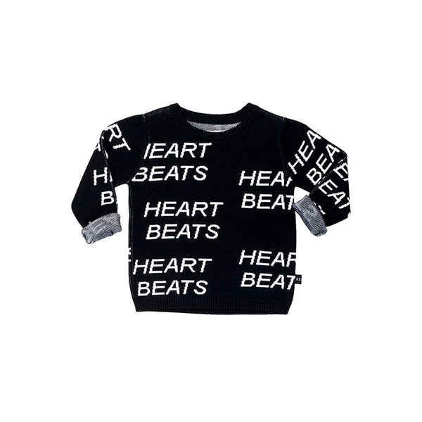 Heartbeat Knit Jumper - Black