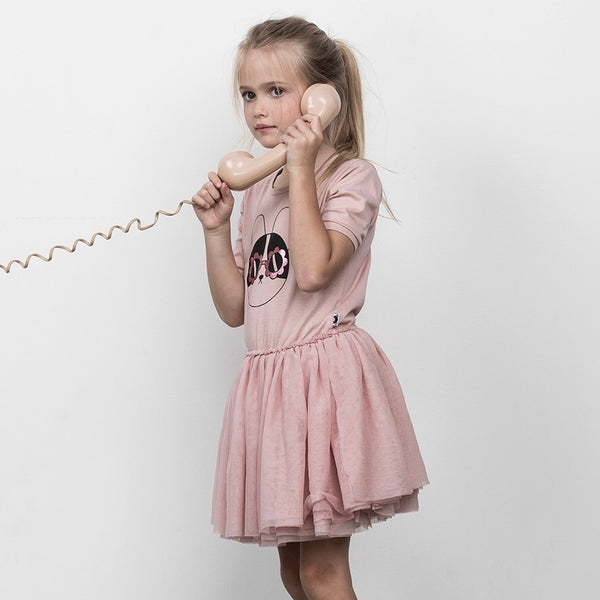 Flower Frenchie Ballet Dress - Rose Dust