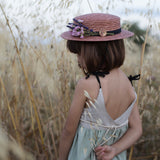 Dusty Pink Straw Hat
