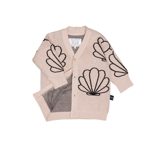 Shell Knit Cardi - Rose