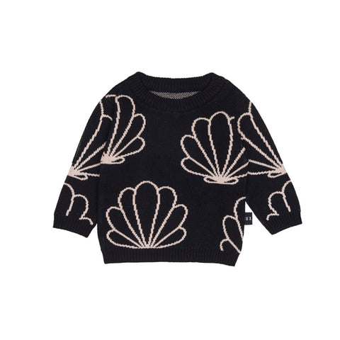 Shell Knit Jumper - Black