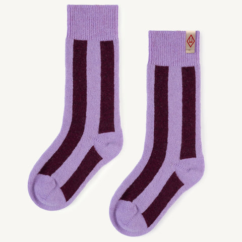 Purple Skunk Kids Socks