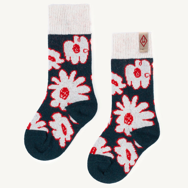 White Snail Kids Socks