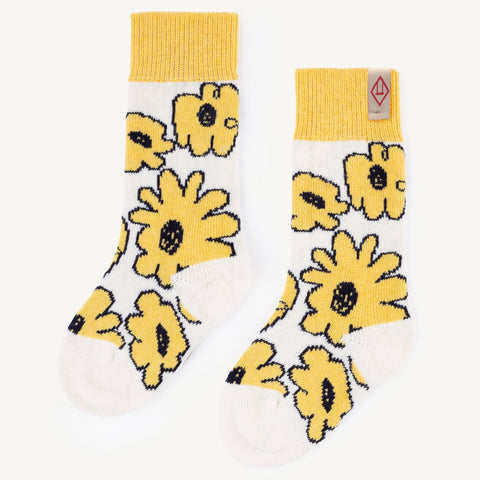 Yellow Snail Kids Socks
