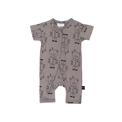 Robo Bear Short Zip Romper