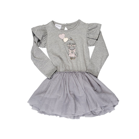 Balloon LS Frill Ballet Dress