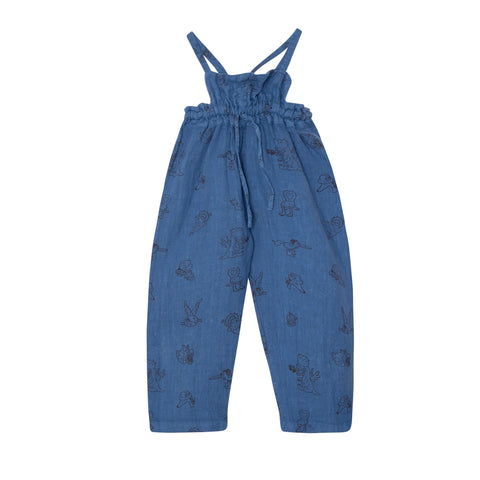 Two in One Linen trousers - Blue