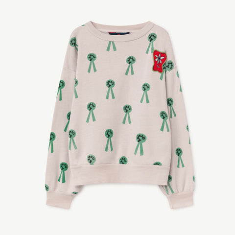 Bear Kids Sweatshirt - Mauve Animals