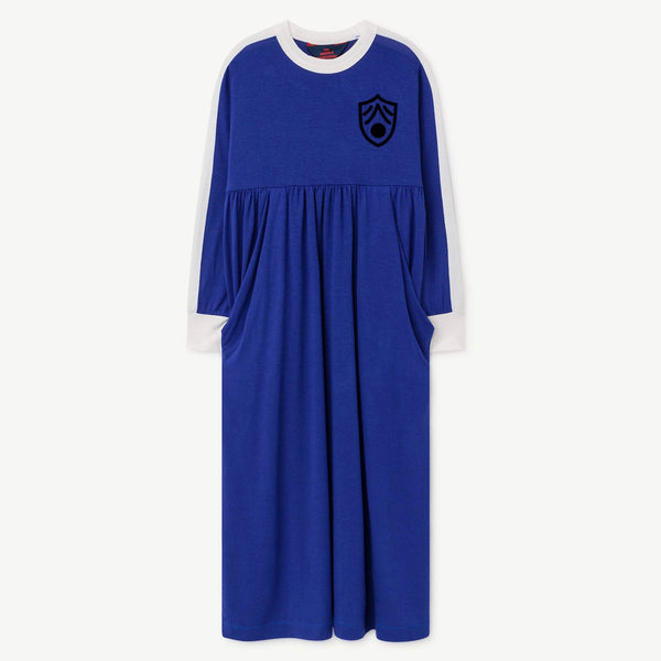 Cockatoo Kids Dress - Blue Shield