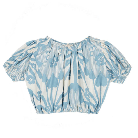 Queens Park Blouse - Blue Flower