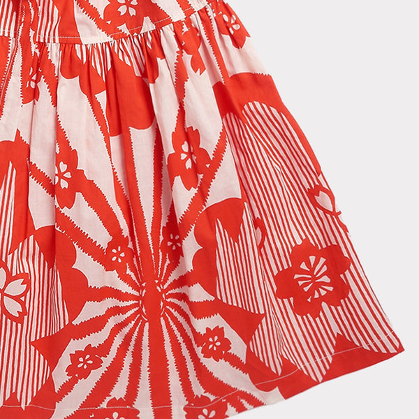 Notting Hill Dress - Red Flower