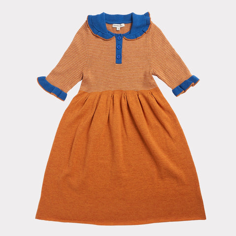 Portobello Knitted Dress - Honey Stripe