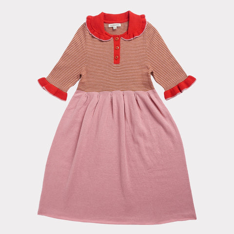 Portobello Knitted Dress - Pink Stripe