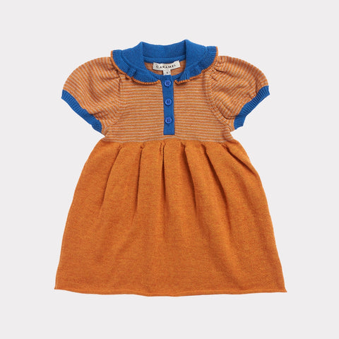 Portobello Knitted Baby Dress - Honey Stripe