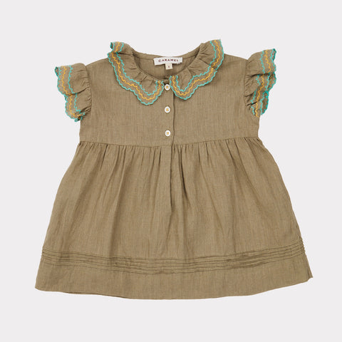 Sloane Square Baby Dress - Sage