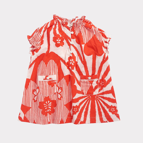 Notting Hill Baby Dress - Red Flower