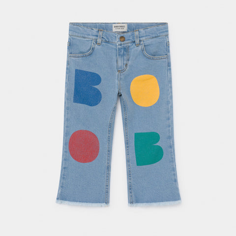 Flared Denim Pants - Multicolor Bobo