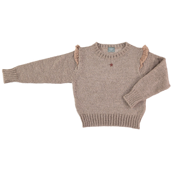 Knitted Sweater - Brown