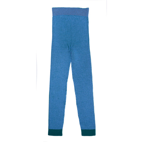 Merino Leggings Robbie - Blue