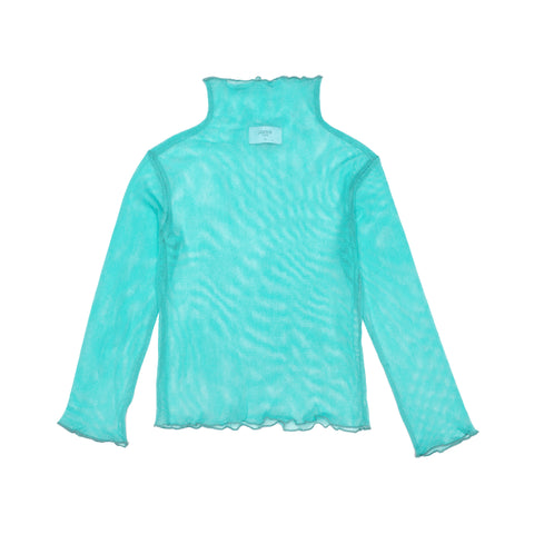 Tulle Turtleneck  Top Yoko - Blue